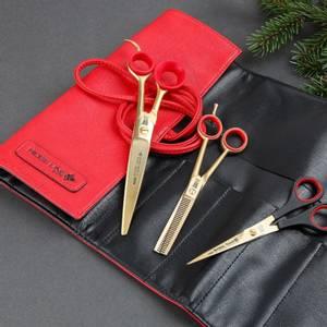 Bilde av Rose Line Saksesett Christmas Gold Set- Saks Pelstell