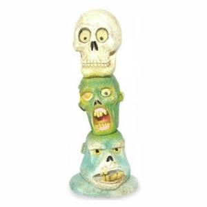 Bilde av Zombie skalle totem pole akvariedekorasjon, selvlysende pynt
