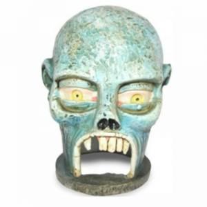 Bilde av Zombie skull akvariedekorasjon, selvlysende hodeskall,