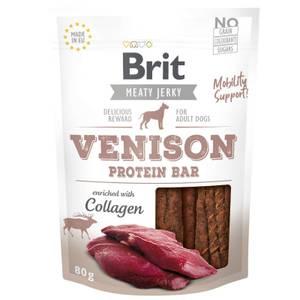 Bilde av Venison Protein Bar, Brit Meaty Jerky  - Godbit Hund