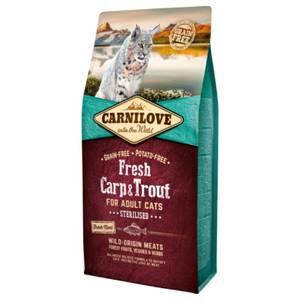 Bilde av 6 kg Kattemat Carnilove Sterilisert Fresh Carp & Trout  - Karpe