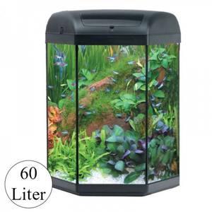 Bilde av Hexa 60 Startsett 60 liter - Sekskantet akvariesett