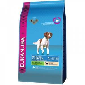 Bilde av 12 kg Hundemat Eukanuba Mature & Senior All Breeds Lam & Ris