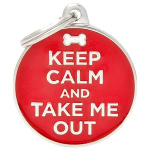 Bilde av ID Tag My Family Charms Keep Calm And Take Me Out - ID Brikke