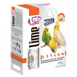 Bilde av kalkstein XL Lolo Pets, skjell & lime - 190 g Mineralstein fugl
