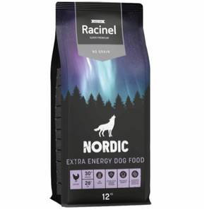 Bilde av 12 kg Racinel Nordic Extra Energy Dog Food No Grain, Kylling