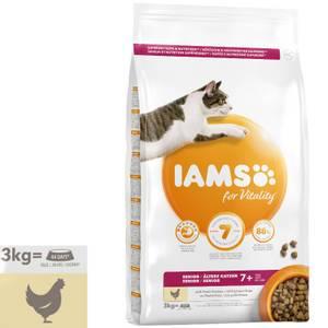 Bilde av 3 kg Iams Senior Vitality, Chicken - Kattemat