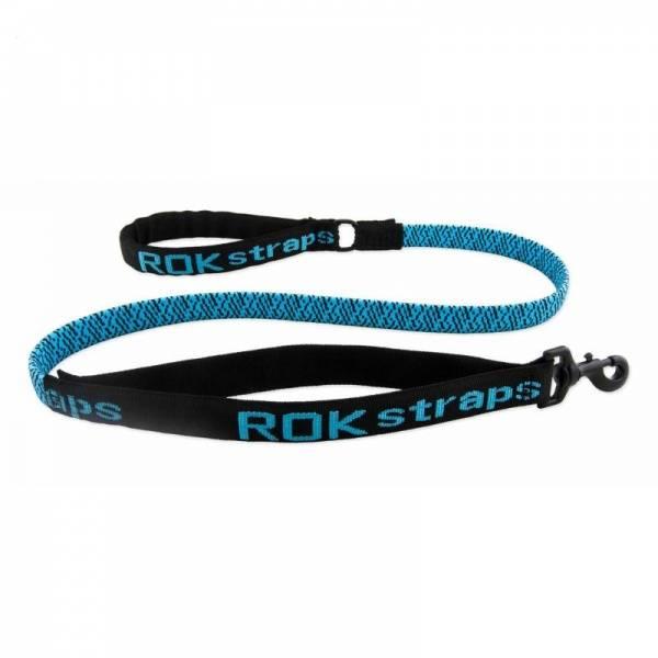 Hundebånd Rok™ Strikk kobbel, blå - Elastisk bånd til hund