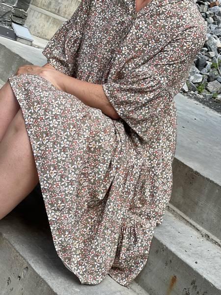 TULLA  DRESS - LEAF
