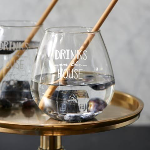 Bilde av RIVIERA MAISON - DRINKS ON THE HOUSE GLASS