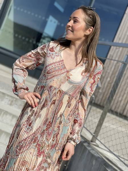 AURA DRESS - NUDE PRINT