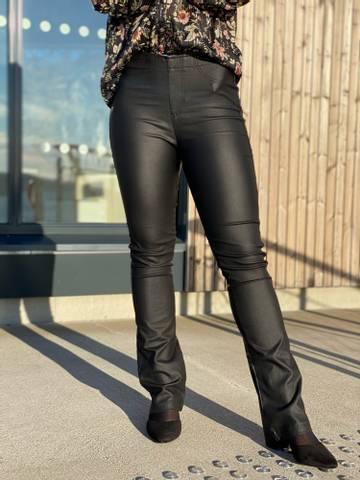 Bilde av ALEIA BOOTCUT COATED PANT  - BLACK