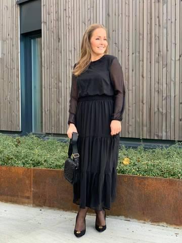 Bilde av NICOLINE DRESS LONG - BLACK