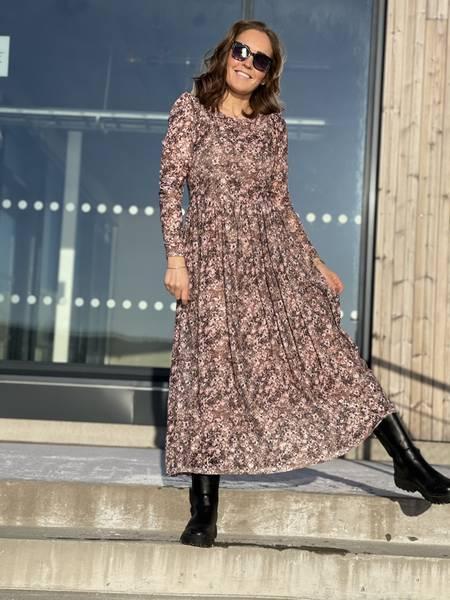 SANNIE DRESS - BEIGE/ROSE MIX