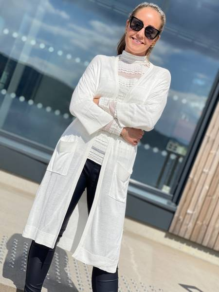 ELINA LONG JACKET - WHITE