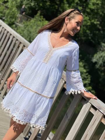 Bilde av RIBO DRESS - WHITE