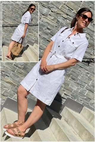 Bilde av LAVA DRESS IN WHITE