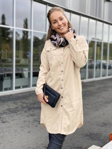 Bilde av VESTER SHIRT DRESS - BAMBOO