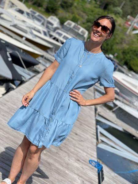 ROSIE DRESS - LIGHT BLUE MIX