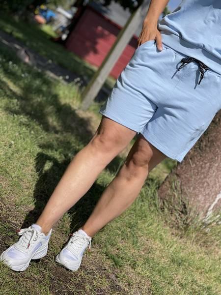 CHILLAX SHORTS - CHAMBRAY BLUE