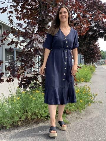Bilde av ANNLEE DRESS - NAVY