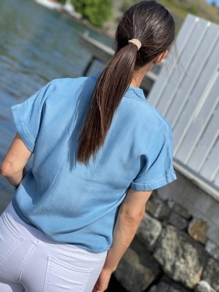 ROSIE SHIRT TIE - LIGHT BLUE