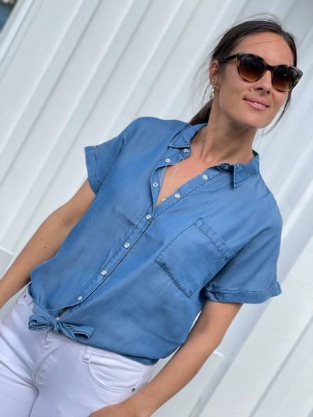 ROSIE SHIRT TIE - VINTAGE BLUE