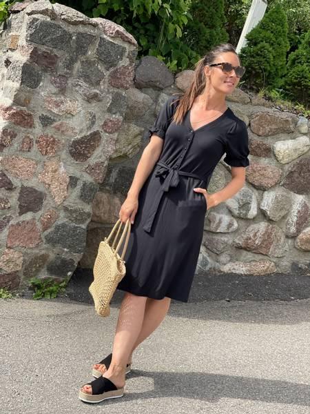 LEOPI DRESS - BLACK