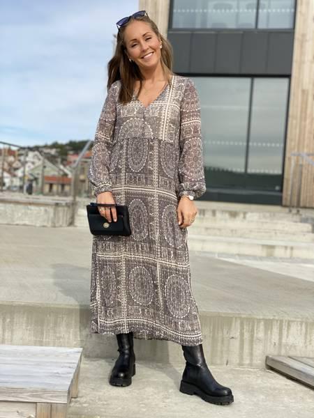 AURA DRESS - GREY PRINT