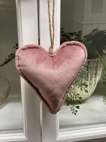 Bilde av RIVIERA MAISON - VELVET HEART ORNAMENT PINK