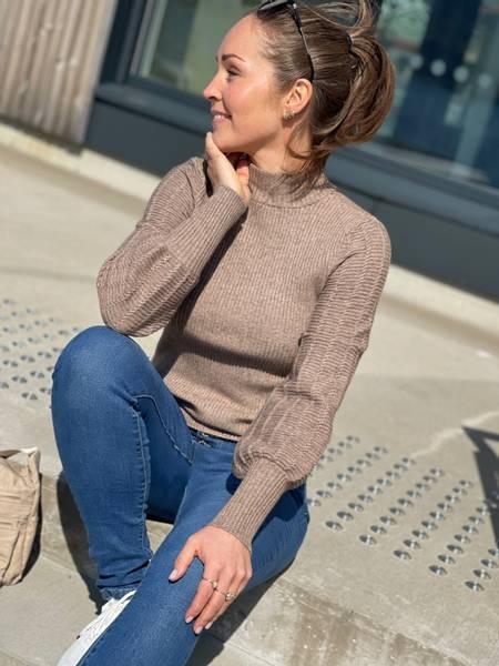 CLAURA ROPE PULLOVER - BEIGE SAND MELERT