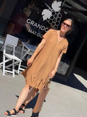 Bilde av MERALDA DRESS - TOASTED COCONUT