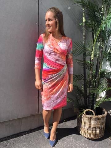 Bilde av CHARLOTTE DRESS 3/4  - MULTICOLOR