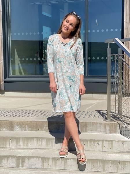 KALEINO DRESS - MINT PAISLEY