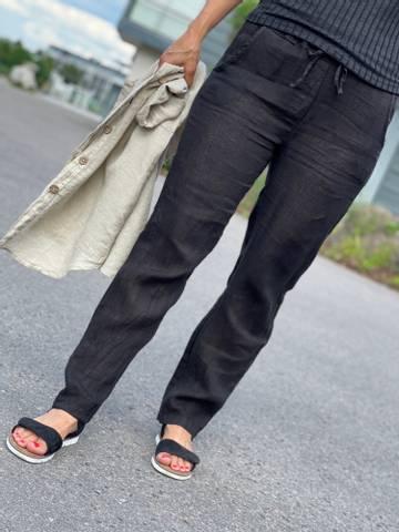 Bilde av BASIC LIN PANT - BLACK