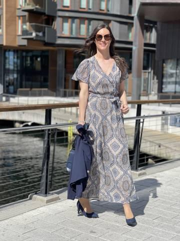 Bilde av NADY DRESS - CHAMBRAY BLUE MIX