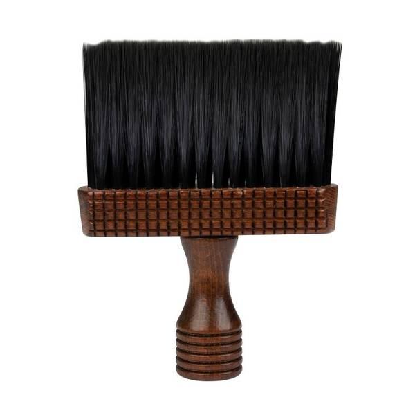 Bilde av Nakkekost med håndtak i brunt tre med sort hår
