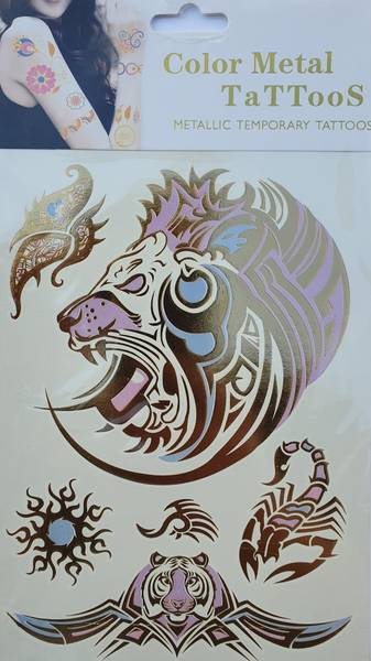 Bilde av Metallic tattoo nr. 10 Color-change