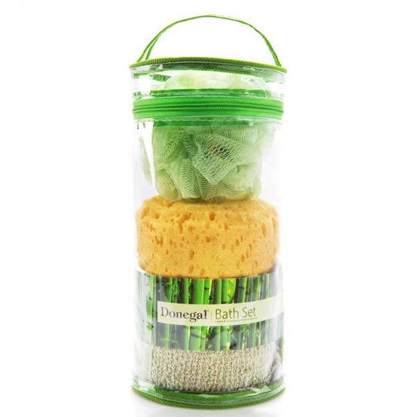 Bilde av Baderomssett med svamp, loaf og belte
