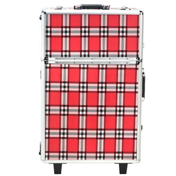 Bilde av Kosmetikkoffert / Sminkekoffert i rødt rutenett