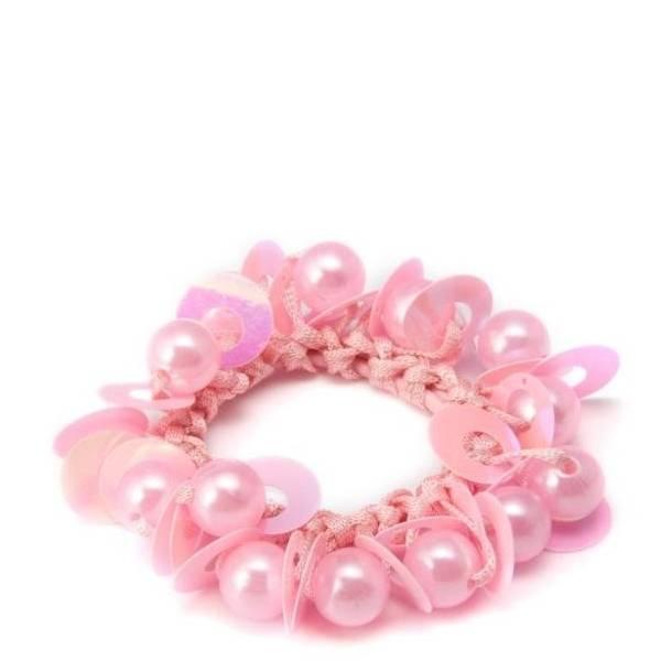 Bilde av Hårstrikk - Pink Ponytail