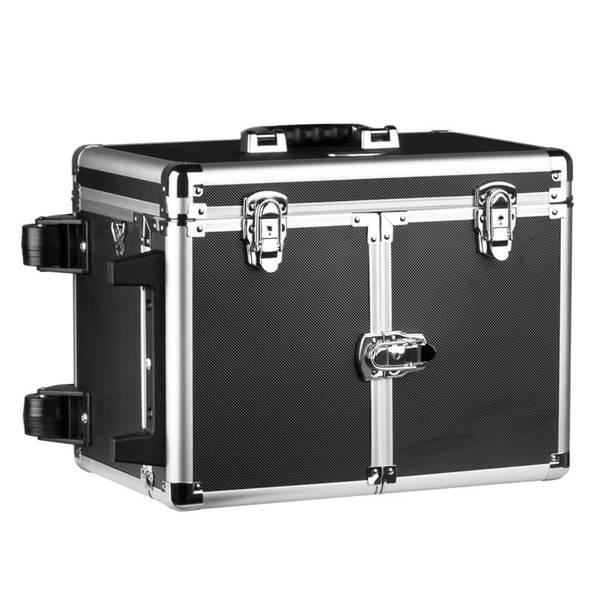 Bilde av Kosmetikkoffert / Sminkekoffert svart med hjul