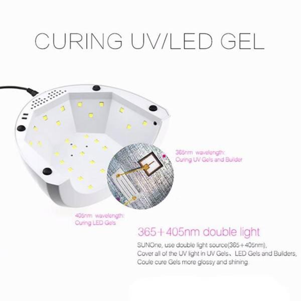 Bilde av UV Led lampe 48W neglelampe sunone med dual led