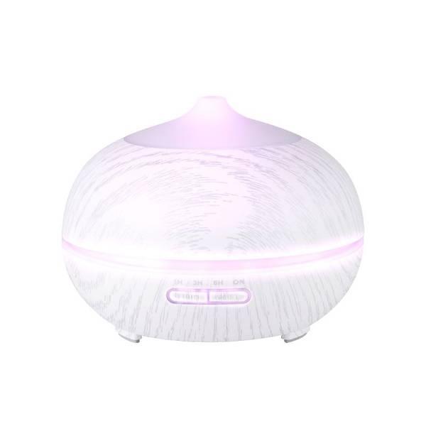 Bilde av Aroma diffuser SPA06 i hvitt tre - 400ml.+ timer - LED lys -