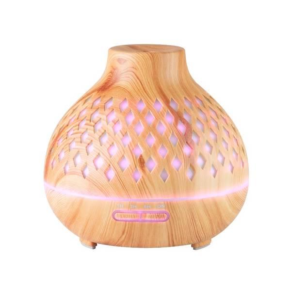 Bilde av Aroma diffuser SPA10 i lyst tre - 400ml.+ timer - LED lys