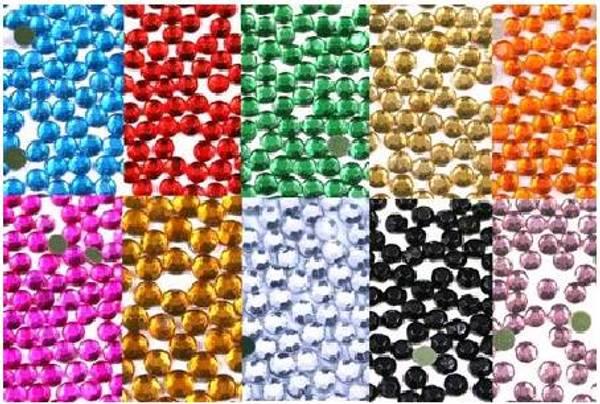 Bilde av Rhinestones runde x 12 farger