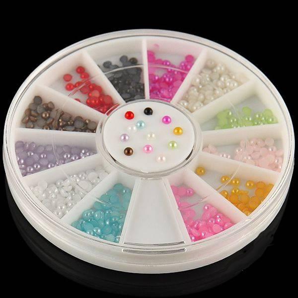 Bilde av Halve perler x 12 farger