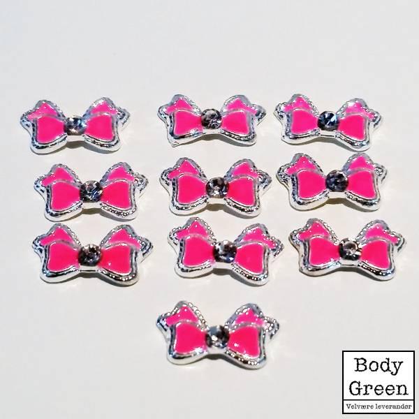 Bilde av Dekor rosa sløyfer 10 stk.