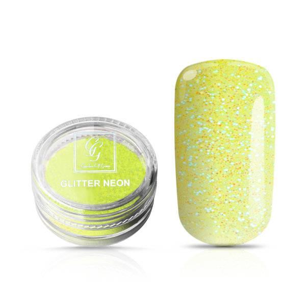 Bilde av Glitter Neon Lys Grønn