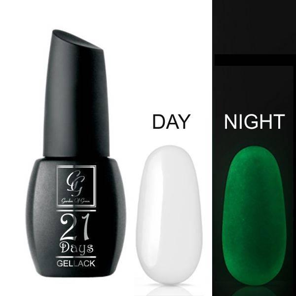Bilde av 21 Days Gellac - Glow in the dark top coat